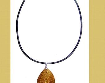 Gold Pendant plant from Brazil - model PALMEIRAS