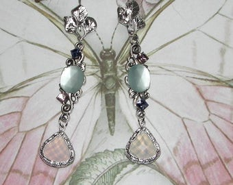 Silver and PASTEL earrings
