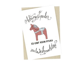 Christmas Card - Spoiler Alert