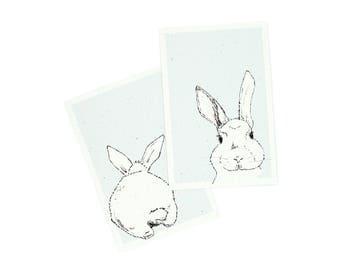 Postcard Set of 2 - Easter Bunny