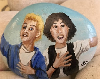 Bill and Teds Excellent Adventure Sandstone Painting