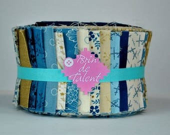 Quilt Roll Blue Sky - strips of fabric for quilt - Jelly Roll