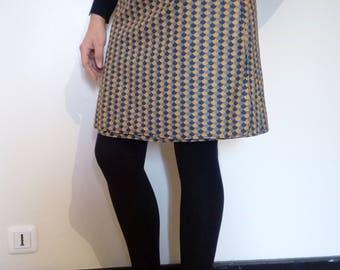 the pressure reversible cotton skirt.