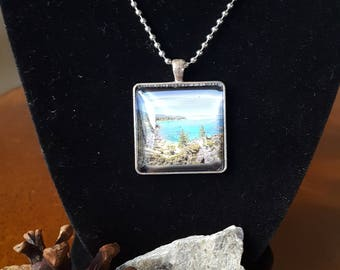 Lake Tahoe Pendant Necklace