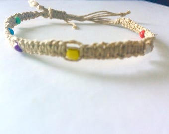 Square Knot Hemp Bracelet