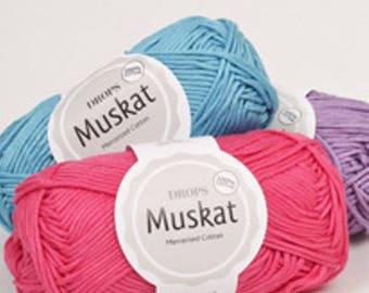 Mercerized cotton 100% DROPS Muskat cotton
