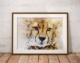 Cheetah Print, Cheetah Art, Animal Print, Printable art, Cheetah Wall Art, Cheetah Wall decor, Animal poster, Big Cat Poster, Safari Poster