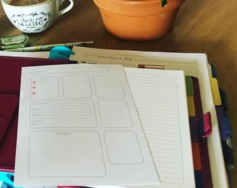 A5 printable planner inserts