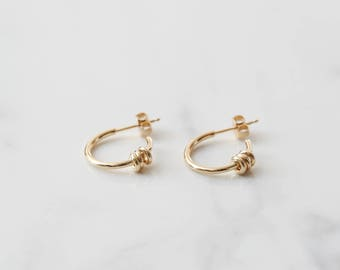 Gold Hoops, Gold Earrings, Gold Jewelry, Gold Hoop earrings, Huggies, Hoops, Gift idea