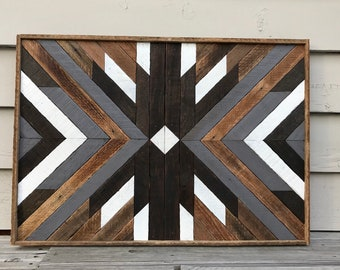 Wood Wall Art  Wood Wall Decor  Wood Art  Geometric Wood Wall Art