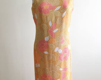 1960s vintage mod dress, vintage Irish dress, 1960s shift dress, flower print dress