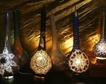 Handmade Gourd Lamps