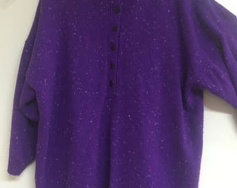 Fabulous vintage 80's, over sized purple sweater