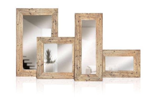 Specchi in legno di recupero Legno massello Specchio con