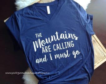 GRAPHIC TEE, The Mountains are Calling shirt, graphic tshirt, womens tees, womens tshirts, tshirts for women, graphic tees women