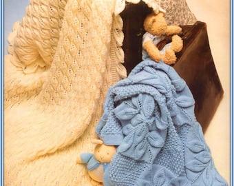 Baby shawls/Baby Baptism Christening shawl/Baby Blanket/ Instant PDF Digital Download Vintage Knitting Pattern-  893