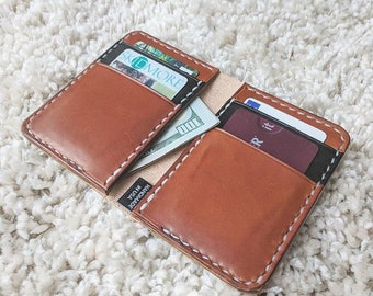 Leather Bifold Wallet Card Holder Wallet