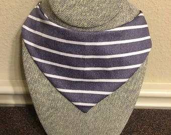 SALE** Denim Striped pet bandana/ bow tie