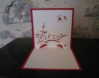 Cherry flowers Kirigami