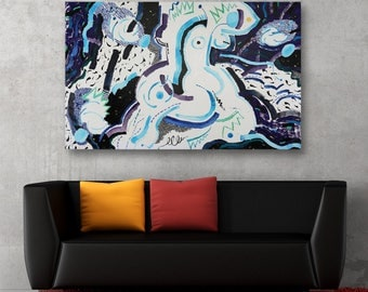 Erotic Art Abstract Oil Painting Abstract Contemporary Painting Art Canvas Art Wall Art Modern Artwork Original Painting Large Painting Art