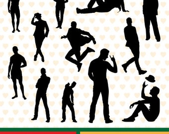 Men models silhouettes sale, eps, svg, png and jpg files high resolution CL-SP-047