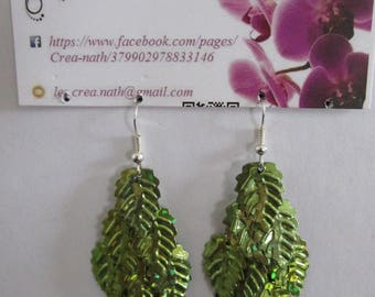 earring type leaf cluster