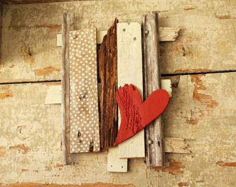 Lonely heart | Wooden decoration | Wall decoration ideas | Romantic and rétro decoration