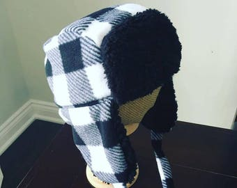 Trapper Hat / Lumberjack Hat / Ear Flap Hat / Buffalo Plaid Hat / Red Plaid Hat / Baby Trapper Hat / Kids Trapper Hat / Baby Gift
