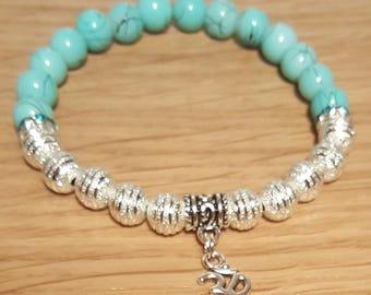 Turquoise ohm bracelet