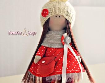 Textile Doll Doll Handmade Doll Fabric Textile Doll Handmade Doll Fabric Doll Tilda Doll
