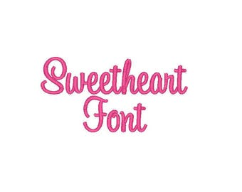Sweetheart font 3 sizes several formats