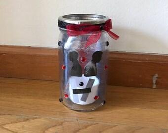 Twenty One Pilots mason jar tea light candle