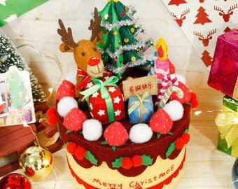 DIY Kit Christmas Rudolph Storage Box / Christmas Gift / Christmas Decoration