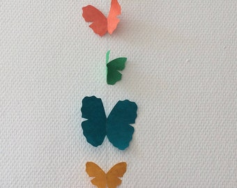 Multicolored Butterfly Garland
