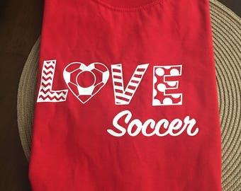 Love Soccer Tee Shirt