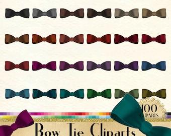 100 Transparent Velvet Bow Tie Clipart, Bow Clipart, Love Clipart, 100 Velvet Clipart, Valentine, Planner Clipart, Transparent PNG