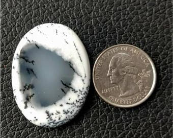 38.15x28.56 mm,Ovel Shape Dendritic Opal Cobochon/ AAA Dendritic Agate Cabochon /Merlinite Cabochon/ wire wrap stone/Super Shiny/ Cabochon