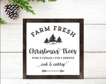 DIY Christmas Decor. Farmhouse Decor. Christmas Farmhouse Decor. Christmas Decor, Farm Fresh Christmas Trees, PRINTABLE, INSTANT Download