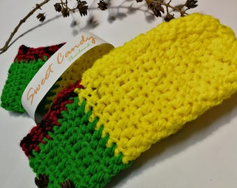 Crochet slippers Indoor slippers Crochet shoes Home boots Warm Gift for Him and Her