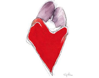 Heart, painting about love
