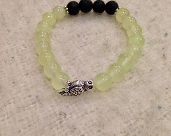 Jade Diffuser Mala Bracelet