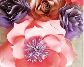 paper flower paper flowerback drop