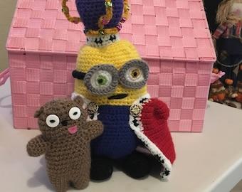 Amigurumi Crochet Minion King Bob Pattern