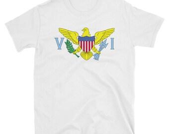 US Virgin Islands Flag Shirt / USVI / Caribbean / Leeward Islands / Tropical Paradise / USVI T-Shirt