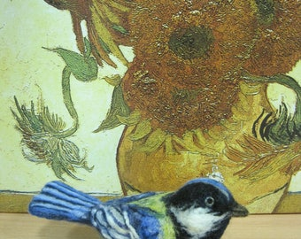 Needle felted bird Wool sculpture Felting Realism Soft toy Decorative bird Interior souvenir Wool toys Collectible toy