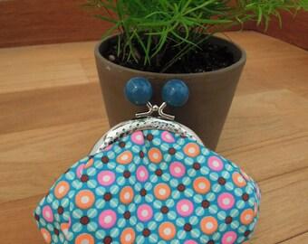 Blue retro purse