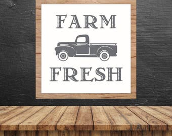 Farm Fresh Truck SVG, Magnolia Farms SVG, Cuttable, Magnolia Market Sign, Digital File, DXF, Scalable, Print, Cut File, Silhouette Cameo 3