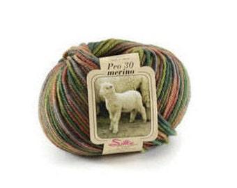 Knitting yarn Merino wool Pure merino yarn colourful 50g 100m Machine wash Strickgarn bunt reine Merinowolle Laine á tricoter Made in Italy