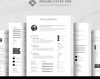Professional Resume Template for Microsoft Word, Modern Resume, CV Template, Cover Letter, Modern CV, 7-Page Resume Bundle