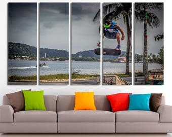 Skateboard canvas, Skateboard photo, Skateboard print, Skateboard poster, Skateboard art, Skateboard wall art, Skateboard decor, Canvas art